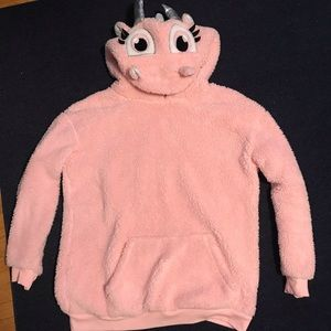 Fuzzy Pink Dragon Hoodie